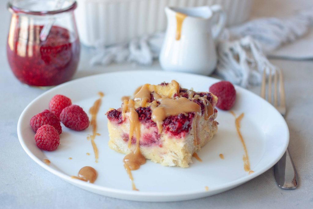 PB&J Sourdough Bread Pudding