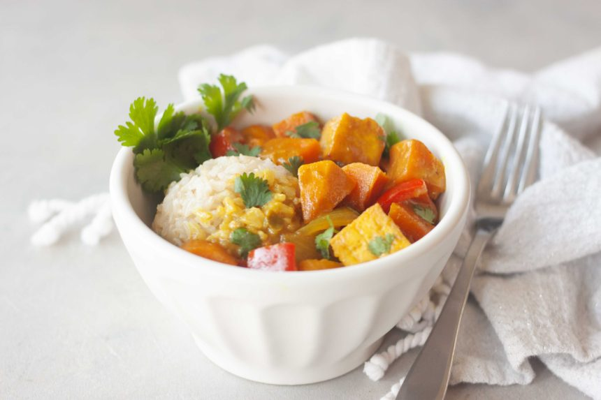 Bowl of Sweet Potato Yellow Curry