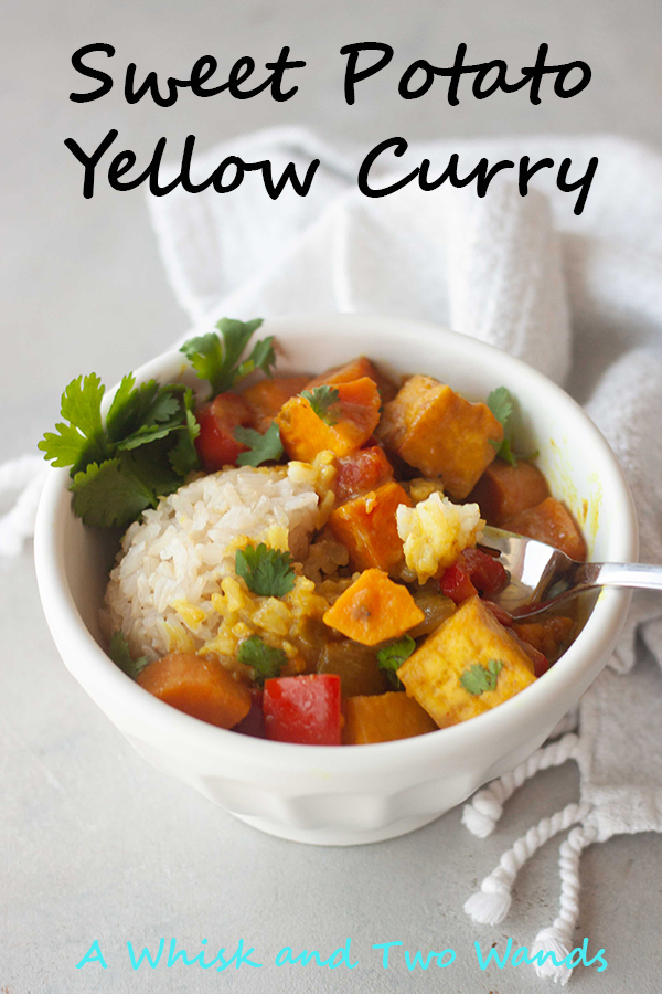 Comfort food with a little kick! Sweet Potato Yellow Curry is a flavor and nutrition packed dish pairing sweet potatoes with all the traditional flavors of curry in a combo that satisfies all the senses. Gluten free and vegan friendly with a plant-based protein option or option for added veggies.
