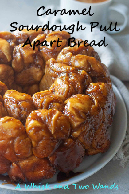 Entertaining or a relaxing cozy weekend in both are perfect for Caramel Sourdough Pull Apart Bread! It really doesn't get any sweeter than this upgrade twist on a classic staple that's been in our family and I'm happy to make and enjoy with my family. Dairy free and vegan friendly.