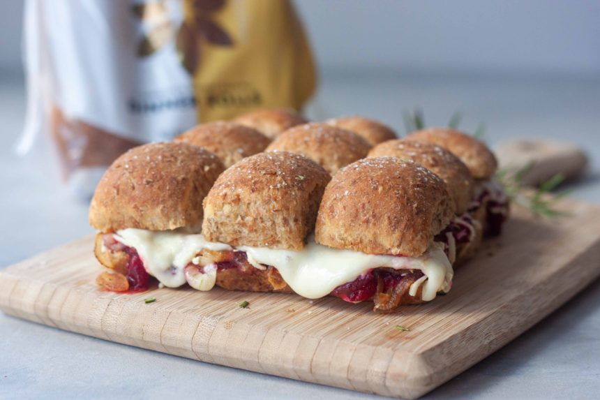 Cranberry Grilled Cheese Sliders