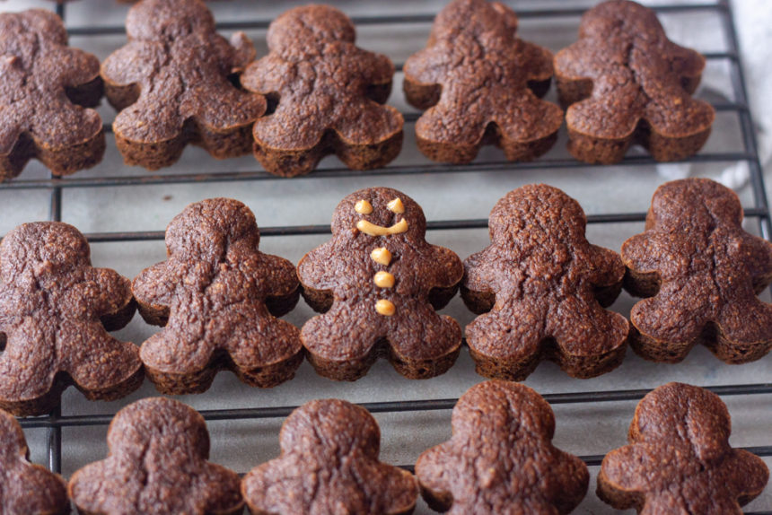 Mini Gingerbread Man Muffins