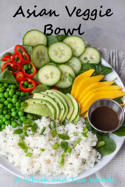 Asian Veggie Bowls are simple, anything but boring, delicious grain bowls that are packed with whole food flavor and easily customizable for the whole family. Easy to make, can be prepped ahead for a quick weeknight dinner (Meatless Monday) or lunch. Plant-based, gluten free, vegan.