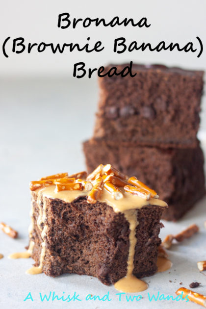 Bronana (Brownie Banana) Bread is what you get if a banana bread and brownie hooked up, the best of both in one! You will have a hard time having just one hunk of a piece! Gluten free, dairy free, and vegan friendly because we all have our preferences.