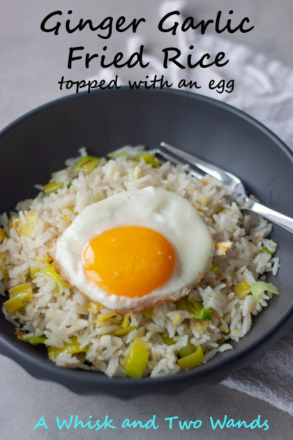 Ginger Garlic Fried Rice transform a basic pantry staple into anything but boring. Enjoy as a main dish or side, topped with a fried egg, with scrambled eggs, or without eggs for a delicious plant-based vegan option.
